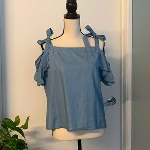 Charlotte Russe Cold Shoulder Shirt